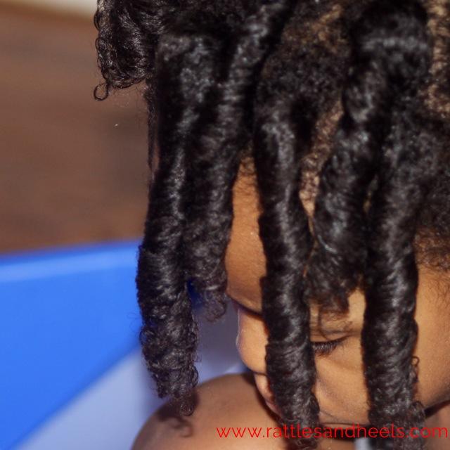 curlformer on toddler hair