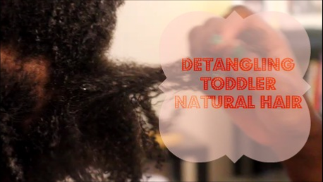 How to detangle kids natural hair {VIDEO}