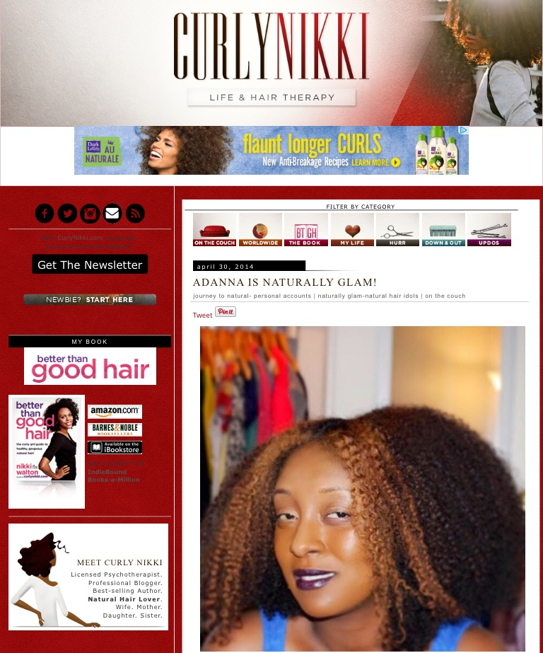 Naturally Glam Feature on Curly Nikki