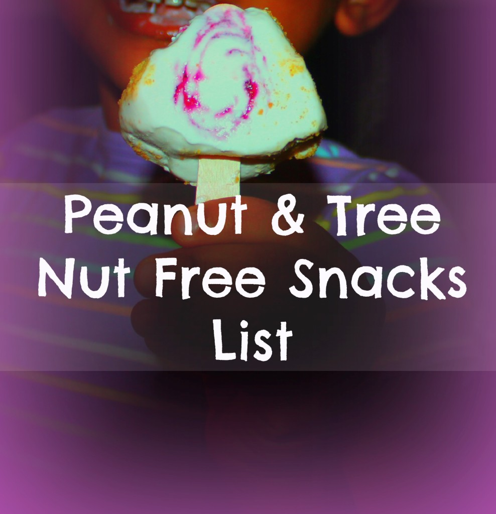 Peanut & Tree Nut Free Snacks List