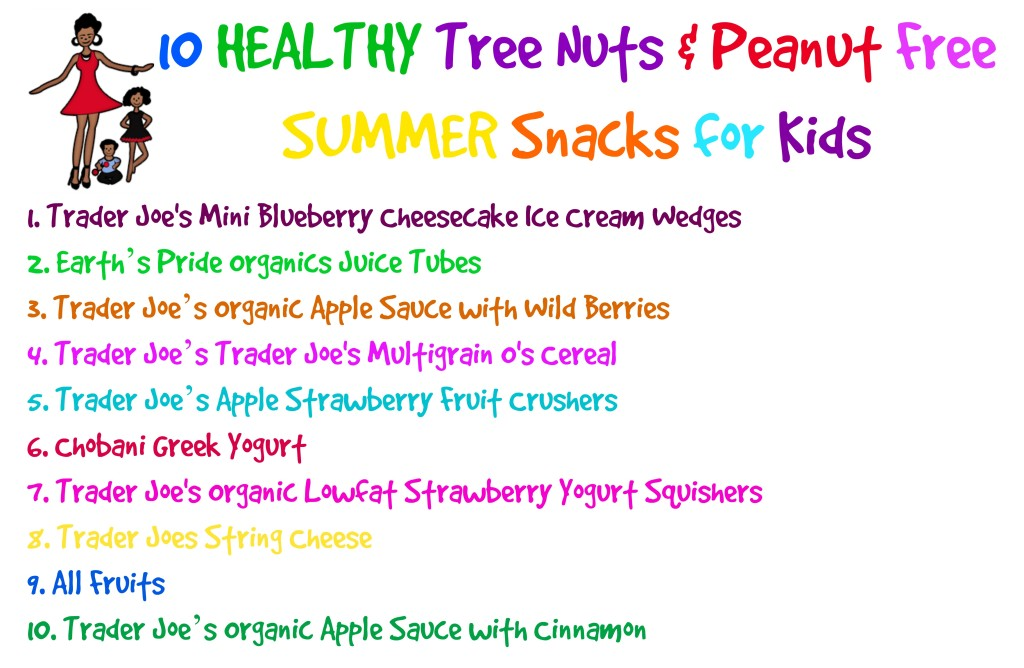 Healthy Tree Nuts and Peanuts Summer Snacks for Kids