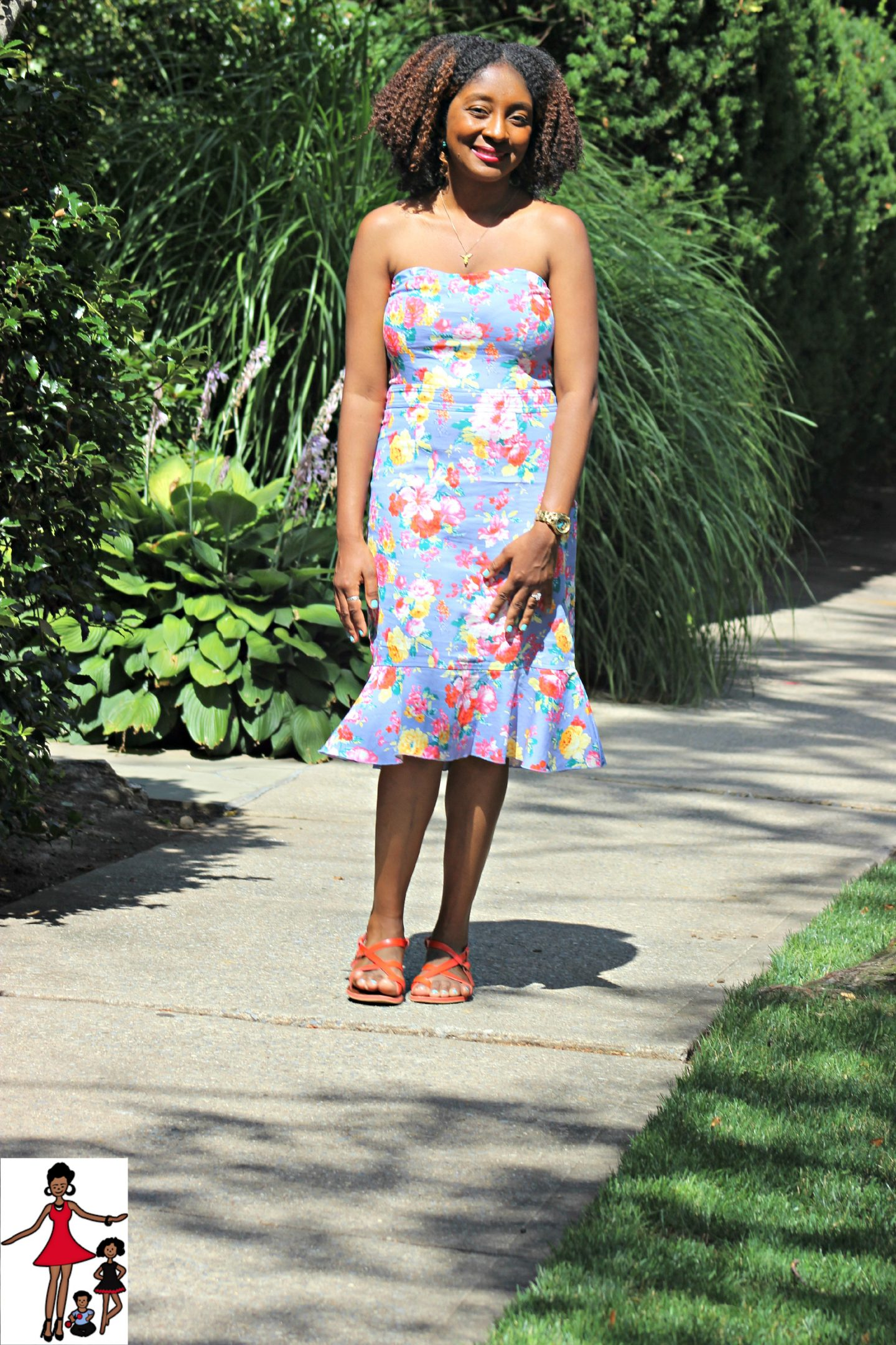 Fashion Friday: Floral Strapless Dress