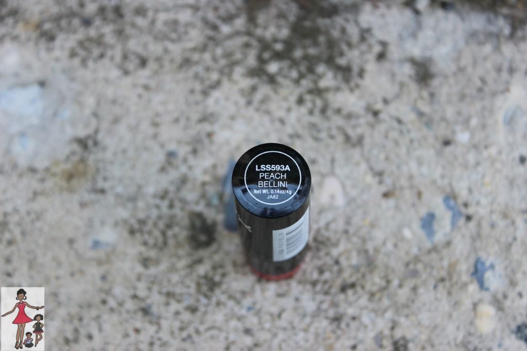 nyx peach bellini lipstick review