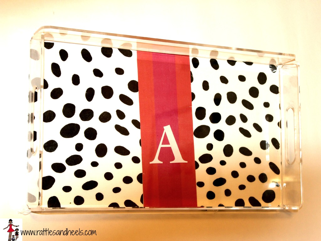 Lucite Monogrammed Serving Tray