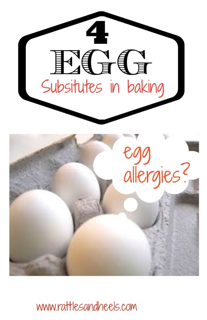 4 Substitutes for Eggs in Baking #FoodAllergy