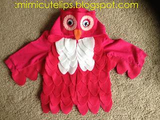 DIY Toddler owl costume