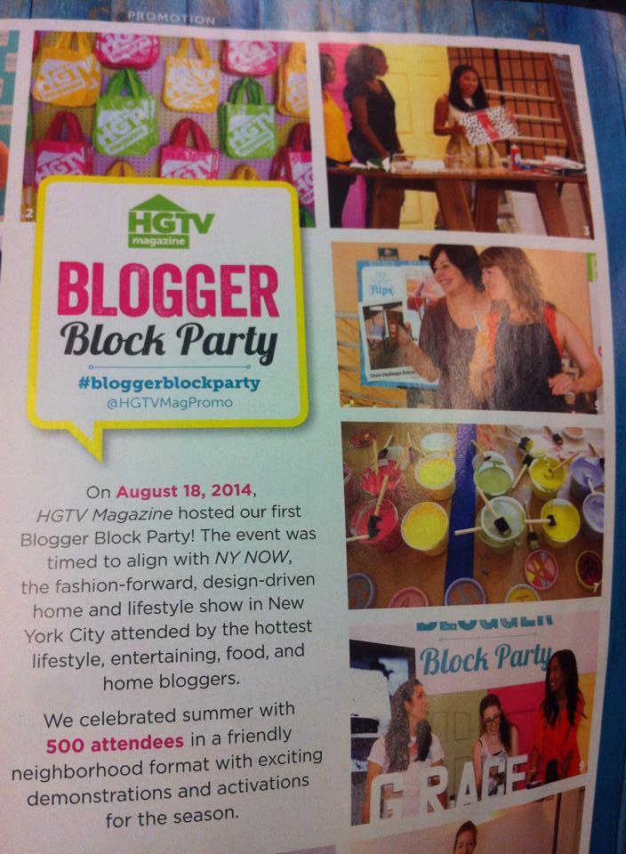 hgtv blogger block party