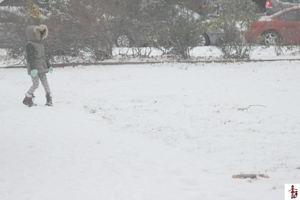 Snow-kids-playing