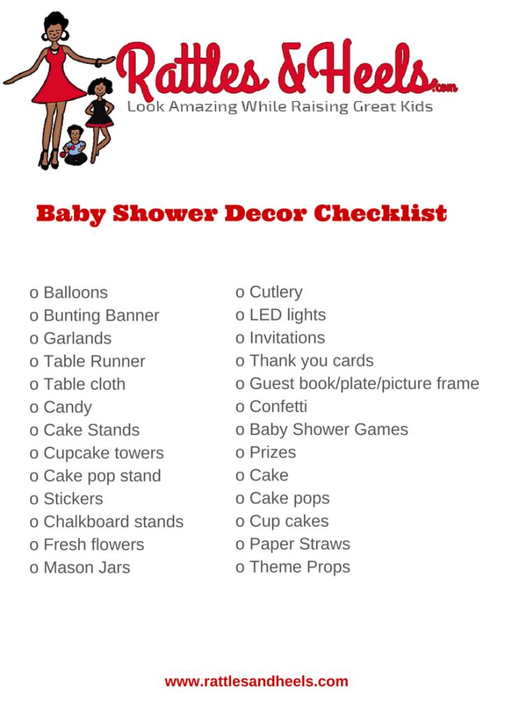 baby shower dcor
