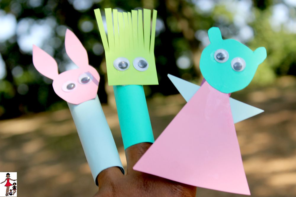 DIY Finger Puppets + Free Books