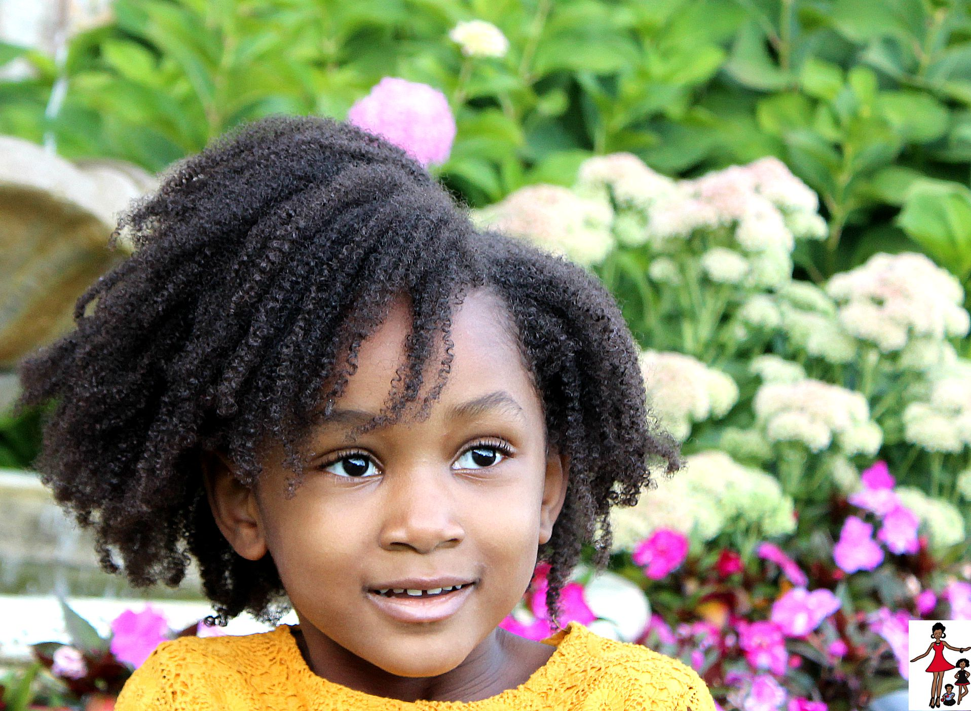 Hair Styles For Toddlers: Kids Natural Hairstyle: Wash And Go On Coily Type 4 Hair