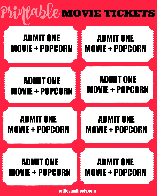 printable-movie tickets