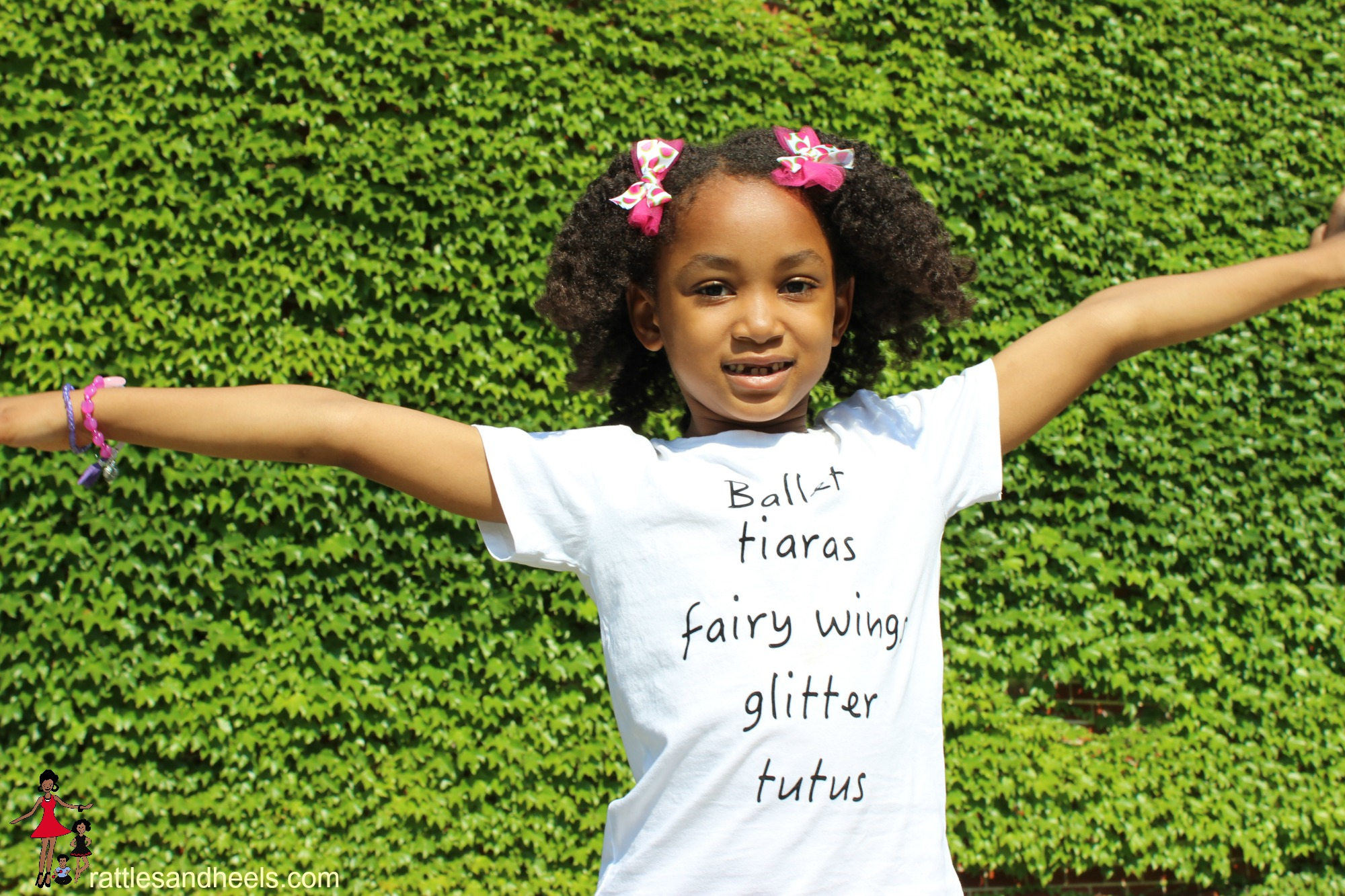 Rattles and heels-children-tee-shirts