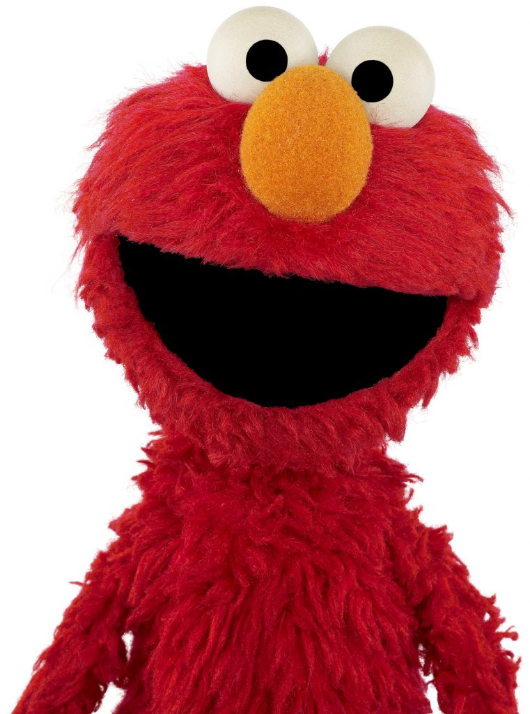 Elmo, standing, 3/4 body pose, facing forward.