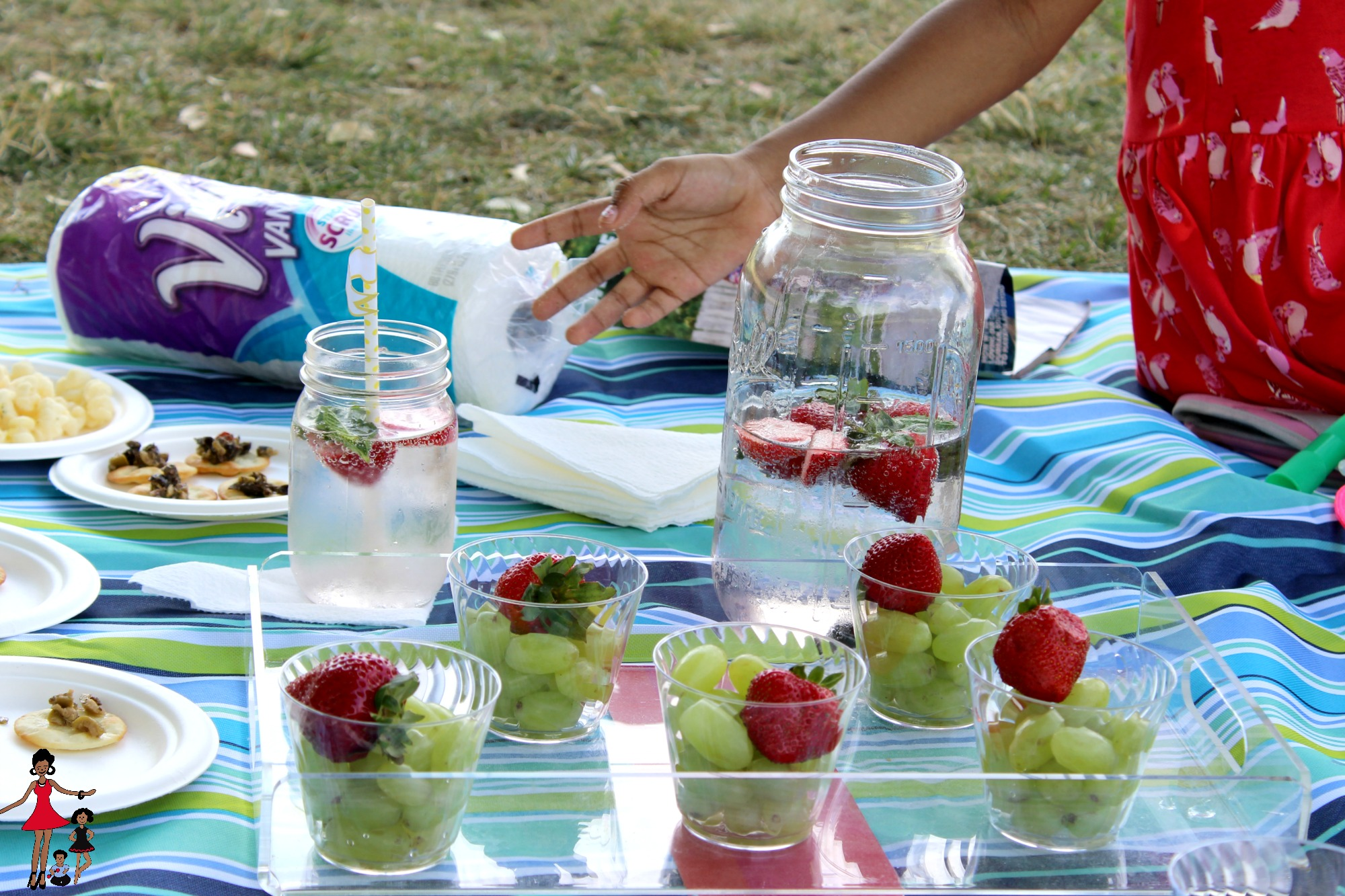 summer picnic with kids