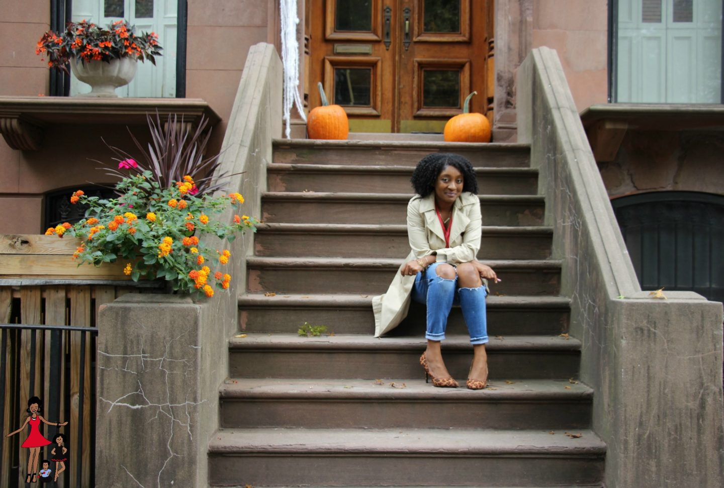 Casual Fall Outfit: Trench Coat and Jeans