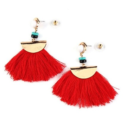 Amazon Style Tassel Earrings