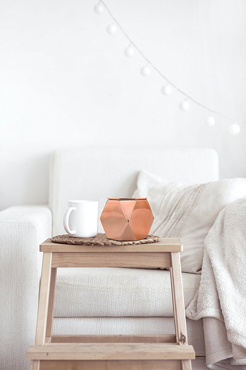 Home Decor Accents Rose Gold Candle Holder