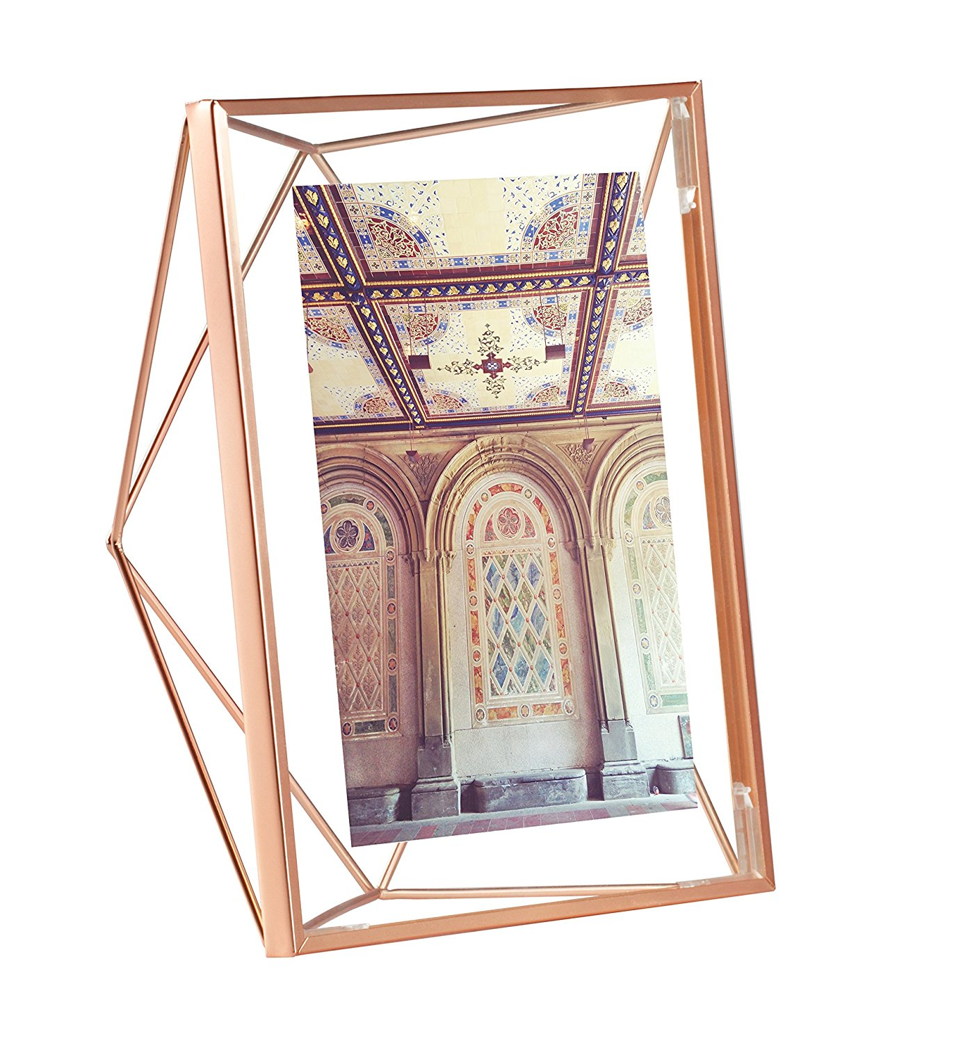 Rose Gold Geometric Photo Frame