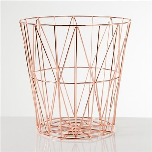 Rose Gold Storage Basket