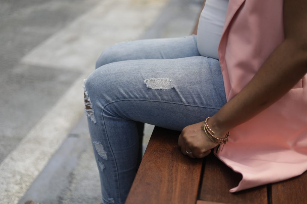 Shopping for maternity jeans