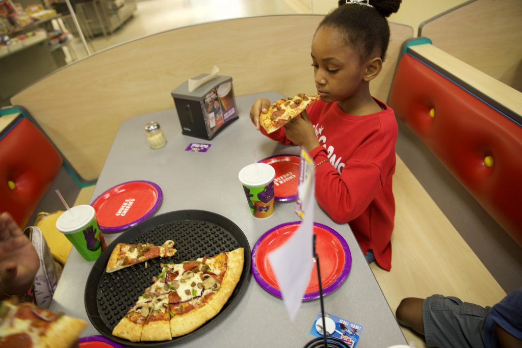 Birthday Dinner at Chuck E. Cheese's