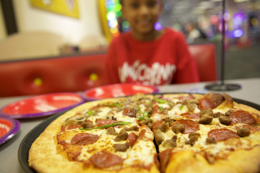 Dinner at Chuck E. Cheese's