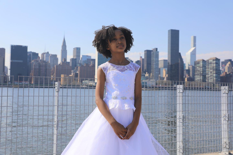 white formal dress for girls