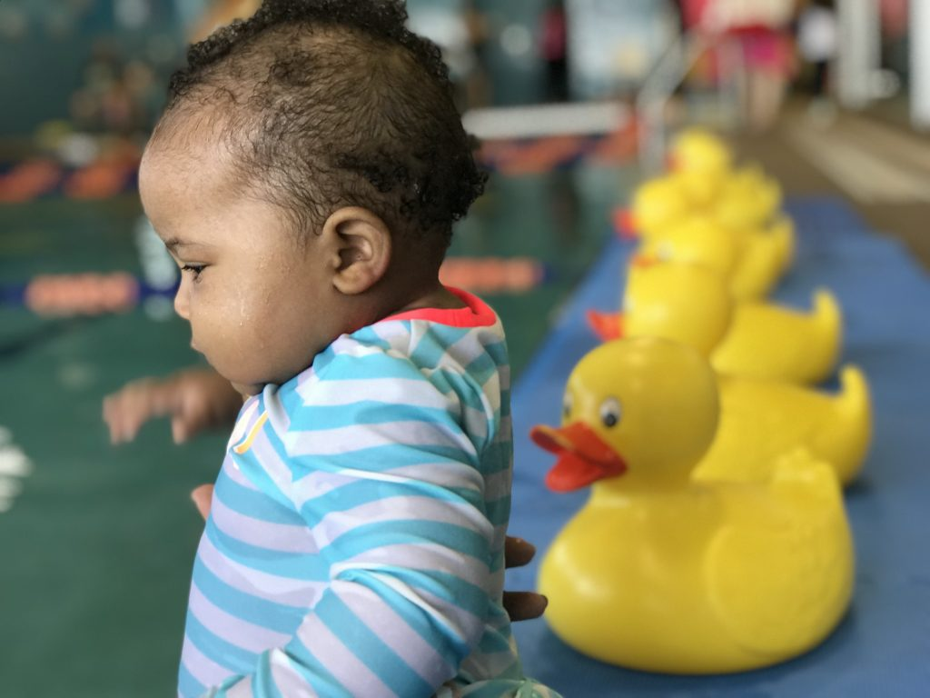 When to Enroll Your Baby in Swimming Lessons | Rattles and Heels