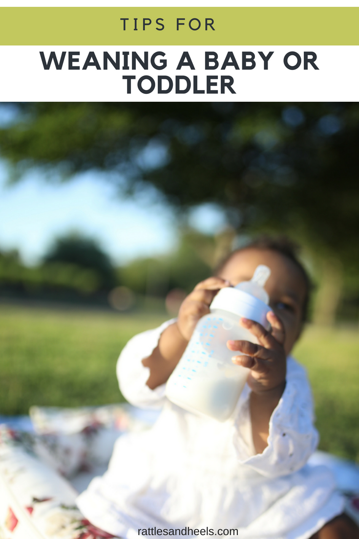 Tips for weaning a baby or toddler