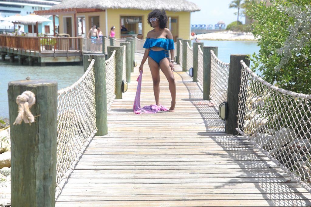 High-waisted bikini   Flattering Swimsuits for Moms