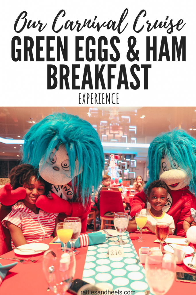 Carnival Cruise Green Eggs and Ham Breakfast experience