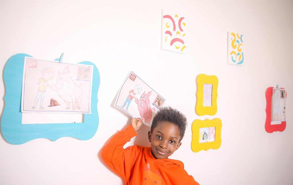 Wonder Park Movie Inspired DIY Wall Gallery to Display Kids Art