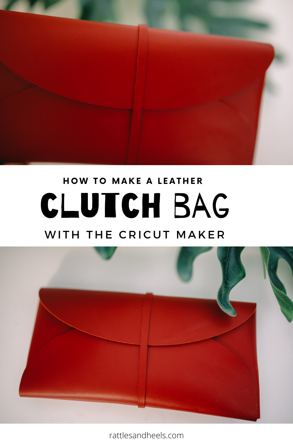 How to Make a Leather Clutch Bag with Cricut Maker.