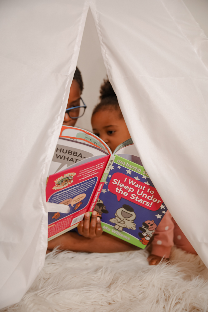 Bedtime Reading Corner Inspired by Mo Willems' I Want to Sleep Under the Stars