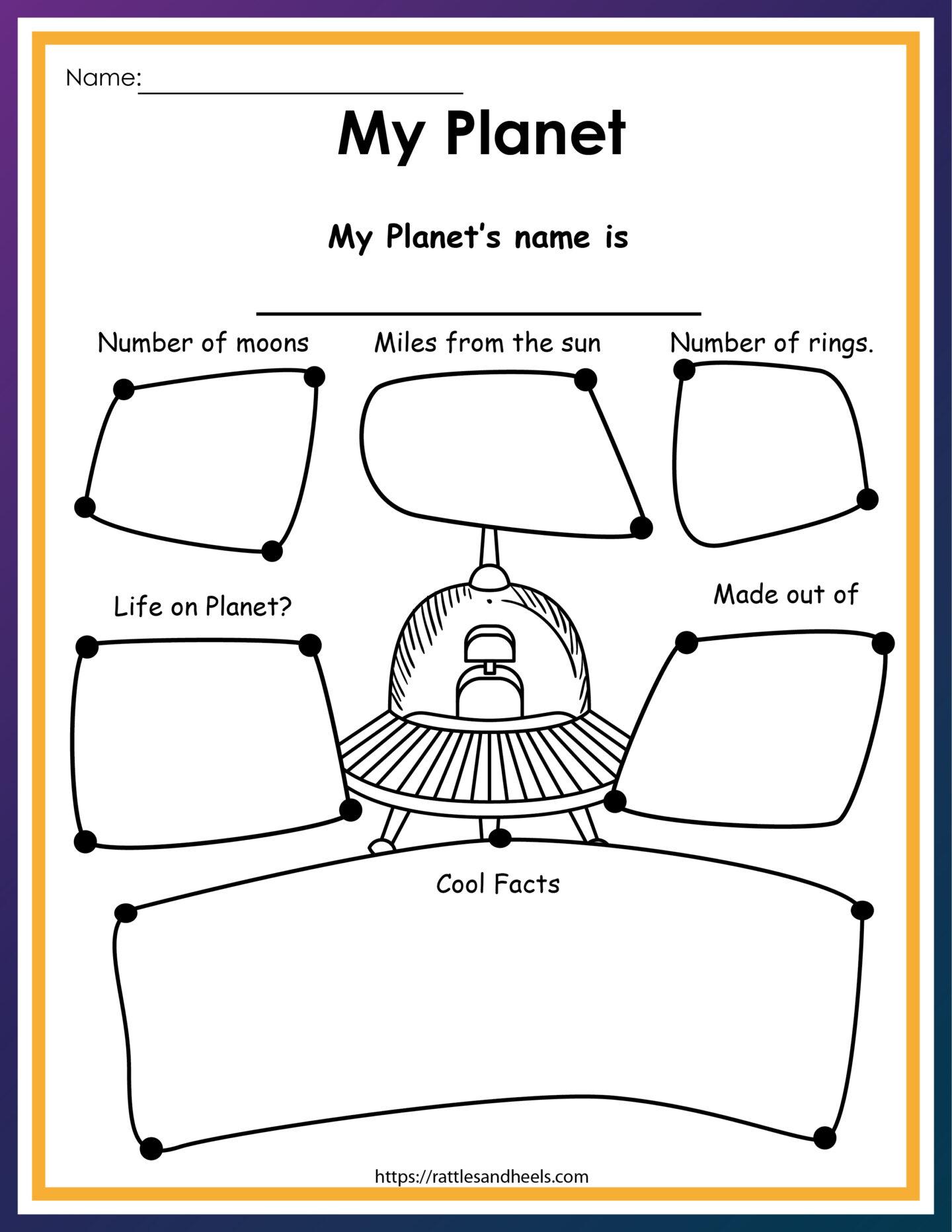 My Planet Printout