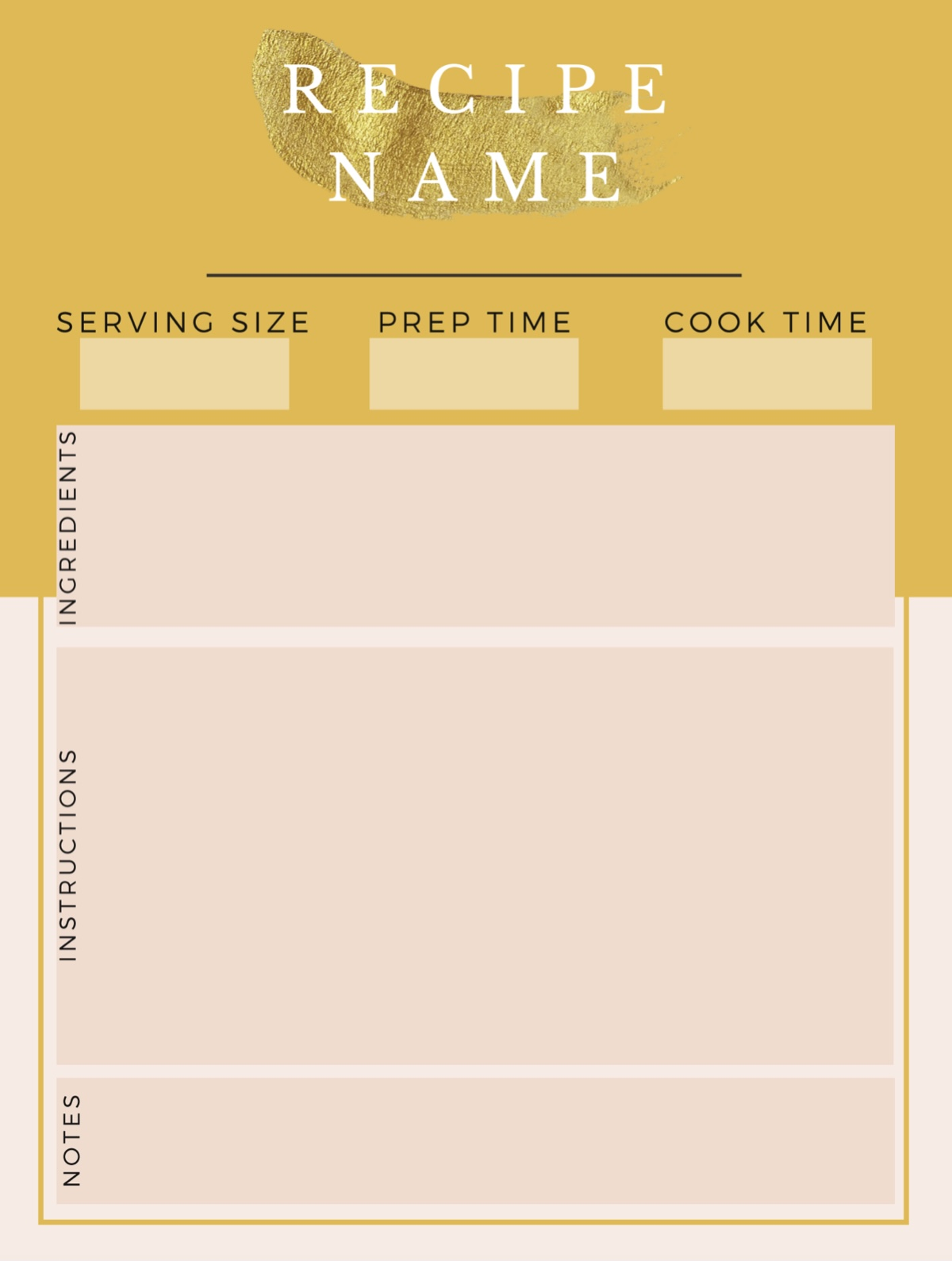 Free meal planning planner
